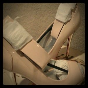 Brand New-Beige with silver heels-never worn